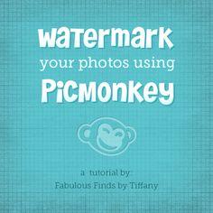 Watermark your photos using PicMonkey