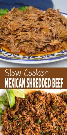 This all purpose Slow Cooker Mexican Shredded Beef is great for tacos, burritos and more! Quick and easy prep work and the crock pot does the rest. Food Recipes For Dinner, Food Recipes Keto Authentic Mexican Recipes, Mexican Dinner Recipes, Beef Recipes For Dinner, Mexican Cooking, Slow Cooker Mexican Beef, Slow Cooker Tacos, Slow Cooker Skirt Steak, Beef Dinner Ideas, Crockpot Recipes Mexican