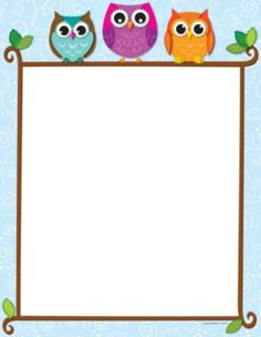Carson Dellosa Colorful Owls on a Branch Computer Paper Use this adorable and delightful Colorful Owls on a Branch design to promote your classroom theme! So many uses to liven up projects, writing assignments, class newsletters and more! Borders And Frames, Borders For Paper, Owl Theme Classroom, Classroom Ideas, Teachers Aide, Computer Paper, Writing Paper, Classroom Organization, Diy And Crafts