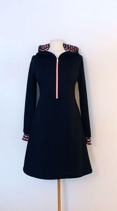 Tunika str. 38 Handmade Dresses, Tights, Dresses With Sleeves, Long Sleeve, Fashion, Tunic, Navy Tights, Moda, Sleeve Dresses
