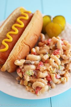 Best-Ever Creamy Macaroni Salad – For backyard BBQs or any occasion, bring the best-ever macaroni salad... creamy, tangy and full of veggies! | thecomfortofcooking.com