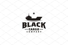 Basic Purchase: - Only 1 file : EPS 10 vector) - For best result, try to open the EPS file using Adobe illustrator. Ship Logo, Meat Delivery, Cargo, Vintage Logo Design, Vintage Black, Character Design, Shop My, Templates, Stencils