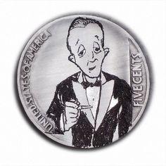 Bing Crosby #399 Hand Engraved  Hobo Nickel  by Luis A Ortiz