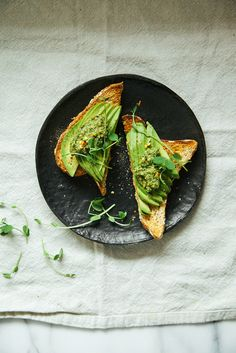 pesto w/ pea shoots, walnuts + mint | Laura, The First Mess for BuzzFeed