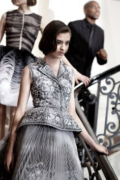A Dior couture look.  (Photo by Sophie Carre)