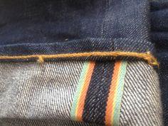 rainbow selvage denim   www.viapiana.ca