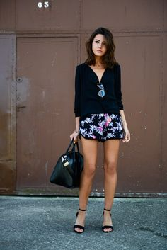 Fashion Blogger Pepa Is Wearing Floral Print Shorts From Only,...