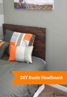 Even if you have a small bedroom, you can still have major style with this DIY wooden headboard. It's perfect for refreshing the space with rustic textures.