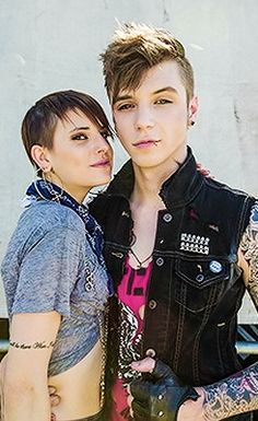 Androgynous couple Juliet Simms & Andy Biersack <3
