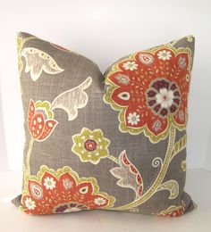 New Item  Decorative Designer Floral Pillow Cover  by Loubella1, $32.00