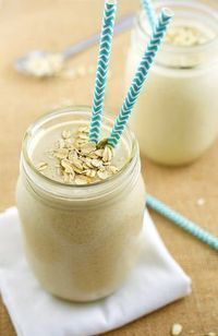 Butter Oatmeal Smoothie Peanut Butter Banana and Oatmeal Smoothie. You can use real milk instead of Soy if you want.Peanut Butter Banana and Oatmeal Smoothie. You can use real milk instead of Soy if you want. High Protein Smoothies, Protein Smoothie Recipes, Oatmeal Smoothies, Breakfast Smoothies, Breakfast Healthy, Oatmeal Protein Shake, Breakfast Recipes, Banana Breakfast, Breakfast Casserole