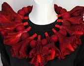 red felted necklace custom order