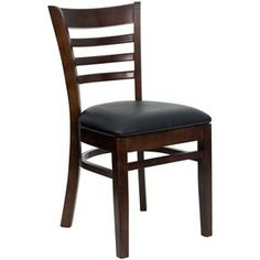 Spencer Walnut Wood Upholstered Classic Dining Chairs