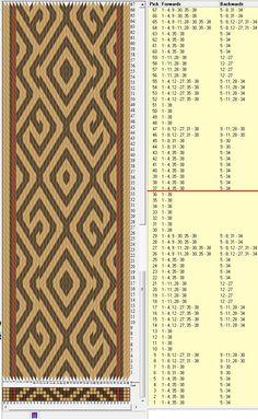38 tarjetas, 3 colores, repite cada 36 movimientos // sed_652 diseñado en GTT༺❁