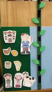 jack and the beanstalk- I want to start making flannel board stories. Kindergarten, Preschool Literacy, Preschool Books, Preschool Printables, Flannel Board Stories, Felt Board Stories, Felt Stories, Fairy Tale Activities, Toddler Activities