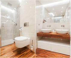 Rekonstrukce hygienického zázemí v tradičním vihohradském bytě měla zásadně zlepšit komfort jeho užívání. Ze stávající nevyhovující koupelny, odděleného WC a dvou technických místností vznikly dvě nové koupelny a jedna technická místnost.   Foto: Tomáš Vlach