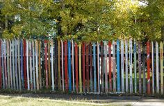 Love this little ski fence