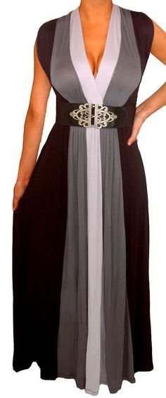 FUNFASH WOMENS PLUS SIZE SLIMMING BLACK COLOR BLOCK LONG MAXI PLUS SIZE DRESS ($59.99) - Lovely, soft and comfortable dress. - I had to purchase a bra that would accomodate the low cut of the front but, you could wear it with a cami to make more modest. - The high waist and wide belt create a lovely shape and is very flattering if you are a curvy girl! http://www.amazon.com/exec/obidos/ASIN/B00FAB077K/hpb2-20/ASIN/B00FAB077K
