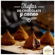 Trufas de #chocolate y cacao