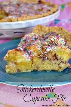 Snickerdoodle Cupcake Pie  - Lady Behind The Curtain #Pillsbury