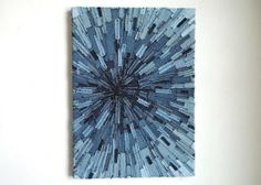 upcycling Upcycle old Jeans into art!