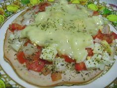 Nutricionista na cozinha: Receitas dos amigos: Pizza integral light, na frigideira, da Michelle