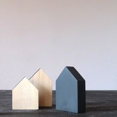 Miniature Wooden Houses by The Bird On The Tree
