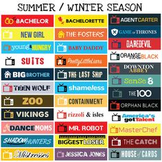 US TV Series Summer / Winter Seasons Sticker Planner by FasyShop