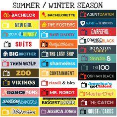 US TV Series Summer / Winter Seasons Sticker Planner by FasyShop