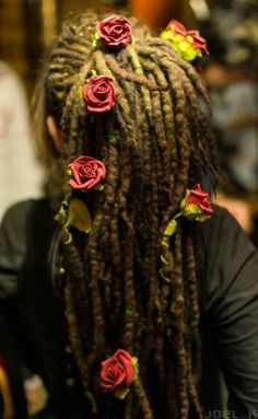 Foam and wore roses on natural locs