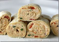 Chicken Enchilada Dip Roll-Ups #appetizer #recipe #chicken