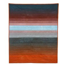 there's no place like home: skyscape quilt blue and rust: kansas: eichler-messmer Quilting Projects, Quilting Designs, Shibori, Japanese Quilts, Quilt Modernen, Strip Quilts, Woven Bracelets, Color Stories, Quilt Making