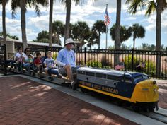 Kids love to ride the miniature train at Lakes Regional Park in Fort Myers, FL. Lakes Park boasts two play areas, fenced in water play zones, a paved trail, and several picnic areas.