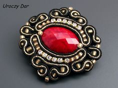Hey, I found this really awesome Etsy listing at https://www.etsy.com/listing/208596745/soutache-brooch-adelina