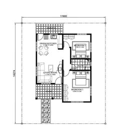 Elvira is a small house plan with porch roofed by a ...
