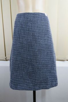 NWT Size XL 16 Ladies Boucle Pencil Skirt Black Blue Business Office Boho Style