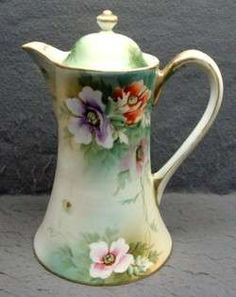 Vintage Hand Painted Nippon Floral Teapot NR