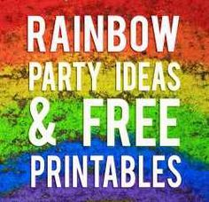 Are you planning to host a gorgeous, bright rainbow colored party!? Then this page is for you cause it's filled with dozens of ideas and free...
