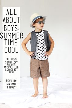 Handmade Frenzy: All About Boys: Free Pattern Edition // Summer Tim...
