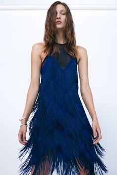 Feria Fringed Cocktail Dress by Galvan London | Lookbook SS 17 | Evening Dresses