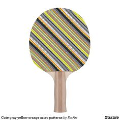 Shop Cute gray yellow orange aztec patterns ping pong paddle created by ForArt. Aztec Patterns, Indian Patterns, Sustainability Projects, Ping Pong Paddles, Gray Yellow, Hardwood, Orange, Cute, Design