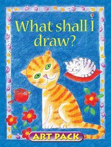 What Shall I Draw? Art Pack w/ book, colored pencils, felt-tip pen, drawing pencils, sharpener, & eraser.