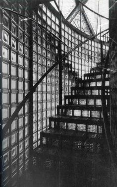 Presidents Medals: The Gray Cloth: Paul Scheerbart& and Bruno Taut& Glass Architecture: What Modernism Forgot Industrial Architecture, Contemporary Architecture, Interior Architecture, Las Vegas Living, Glass Stairs, Glass Walls, Glass Pavilion, Cologne Germany, Grey Outfit