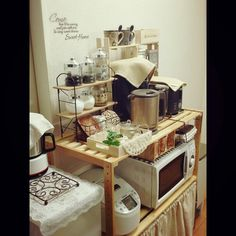 Cafe-style / Natural Kitchen / ceria / Kyandu / Daiso / narrow kitchen ... Interior example of such - 2014-06-01 19:14:36 ​​| RoomClip (Room clip)