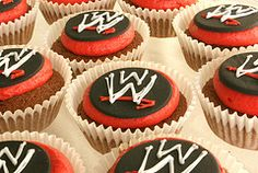 matching wrestling  cupcakes
