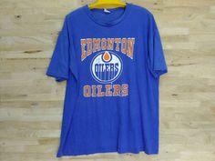 Vintage 80s Edmonton Oilers Tee // Edmonton Oilers by ArenaVintage