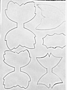 Bow Template, Templates, Diy Leather Earrings, Hairbows, How To Make Bows, Headband Hairstyles, Projects To Try, Cricut, Hair Accessories