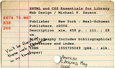 Card Catalog Card by Travelin' Librarian, via Flickr