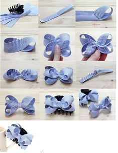 This pin was discovered by tam – Artofit How to make ribbon bow? 8 tips to make a 5 inch hair bow. Bows for Allie Back To School Cards with Bow Tutorial by Mendi Yoshikawa Yoshikawa - Salvabrani Discover thousands of images about Lace and ribbon hair b Ribbon Hair Bows, Diy Hair Bows, Satin Ribbon Roses, How To Make Hair, How To Make Bows, Baby Bows, Baby Headbands, Cheap Valentines Day Gifts, Hair Bow Tutorial