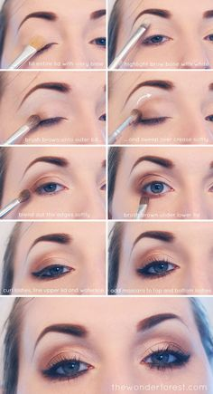 Makeup Tutorials for Blue Eyes -Everyday Neutral Smokey Eye Tutorial -Easy Step By Step Beginners Guide for Natural Simple Looks, Looks With Blonde Hair Colour and Fair Skin, Smokey Looks and Looks for Prom https://thegoddess.com/makeup-tutorials-blue-eyes